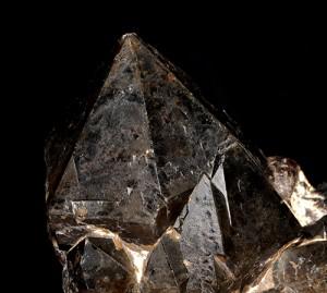 """quartz noir """"morion"""" (France)"""