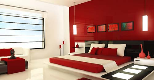 red-and-white-and-black-mod-bedroom